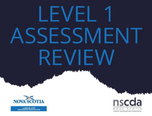 Level 1 Assessment Review